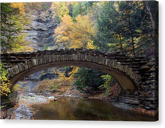 Archway To Autumn Canvas Print