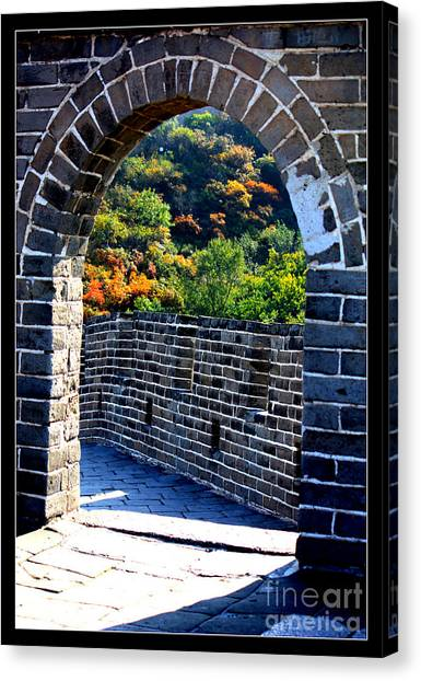 Pavers Canvas Print - Archway To Great Wall by Carol Groenen