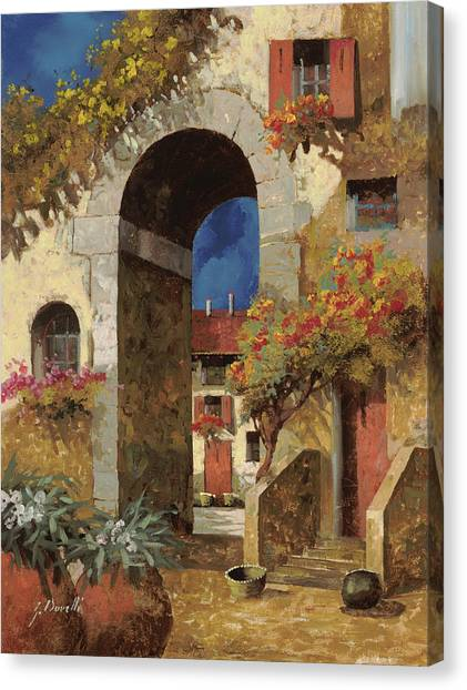 Villages Canvas Print - Arco Al Buio by Guido Borelli