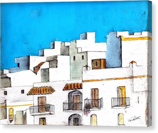 Arcos De La Frontera Spain Canvas Print by Eugene Foltuz