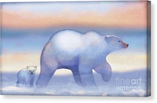 Bear Canvas Print - Arctic Bears, Journeys Bright by Tracy Herrmann