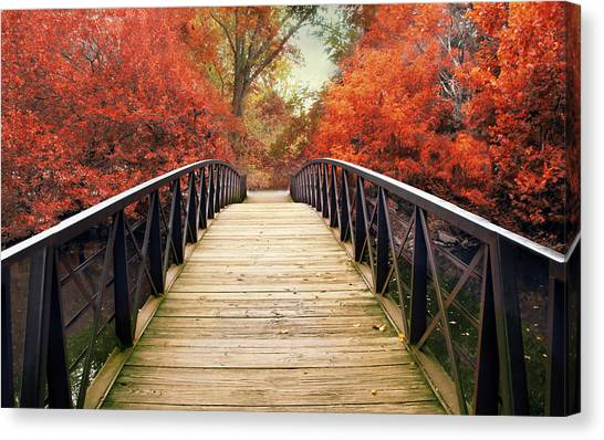 Canvas Print featuring the photograph Ardent Autumn by Jessica Jenney