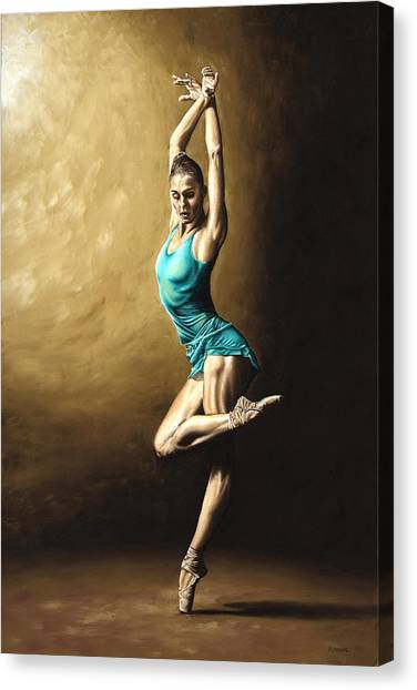 Ballet Canvas Print - Ardent Dancer by Richard Young