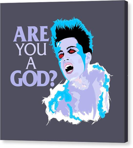 Ghostbusters Canvas Print - Are You A God? by Mos Graphix