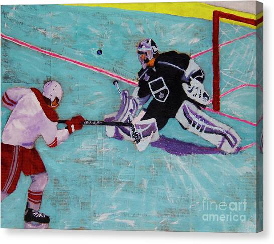Los Angeles Kings Canvas Print - Are You Quick Enough by Marina McLain