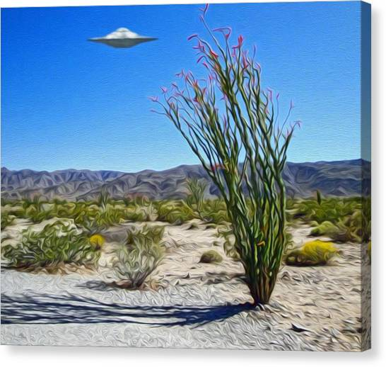 Area 51 U.f.o. Sighting  Canvas Print