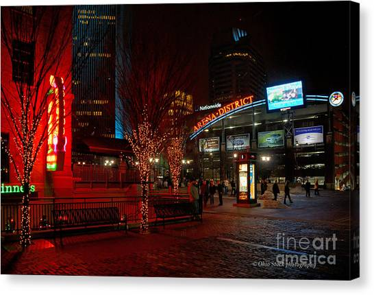 D66l-4 Arena District Photo Canvas Print