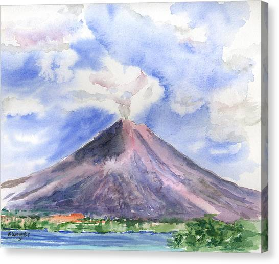 Arenal Volcano Canvas Print - Arenal Volcano Costa Rica by Arline Wagner
