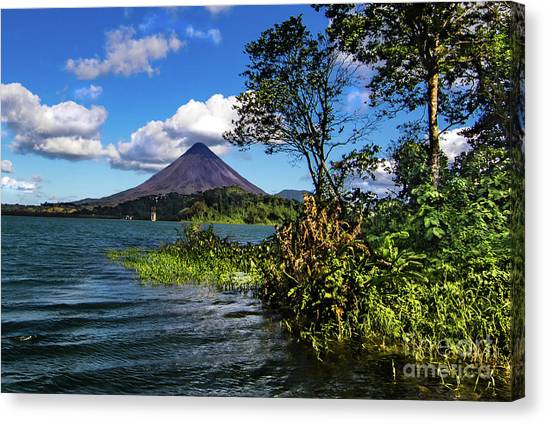 Arenal Volcano Canvas Print - Arenal Volcano Lake Landscape by Norma Brandsberg