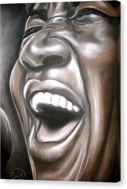 Aretha Franklin Canvas Print by Zach Zwagil