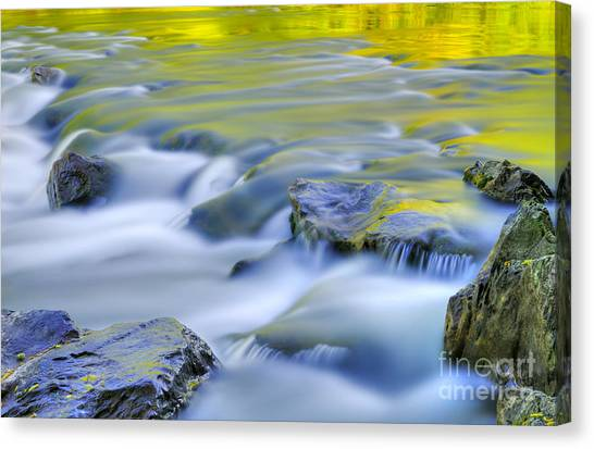 Reflections Canvas Print - Argen River by Silke Magino