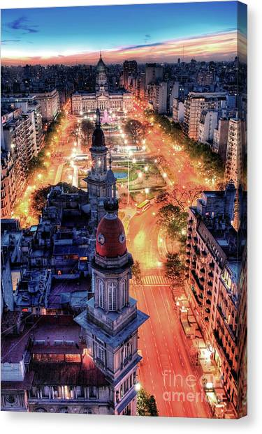 Argentina National Congress Canvas Print