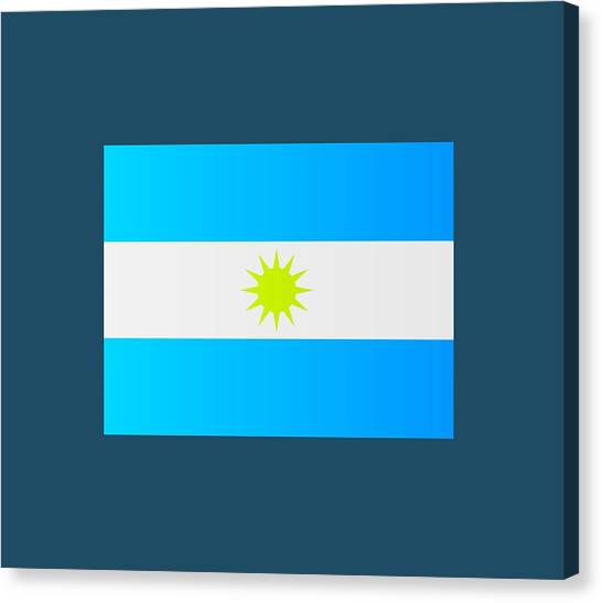 Argentinian Canvas Print - Argentine Flag by Marco Livolsi