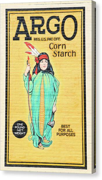 Argo Corn Starch Wall Advertising Canvas Print