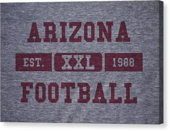 Arizona Cardinals Canvas Print - Arizona Cardinals Retro Shirt by Joe Hamilton