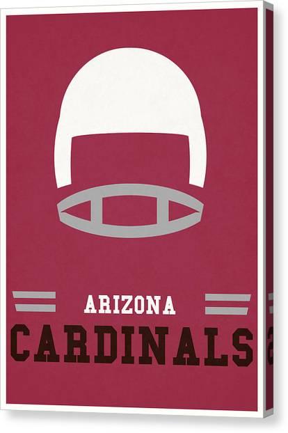 Arizona Cardinals Canvas Print - Arizona Cardinals Vintage Nfl Art by Joe Hamilton