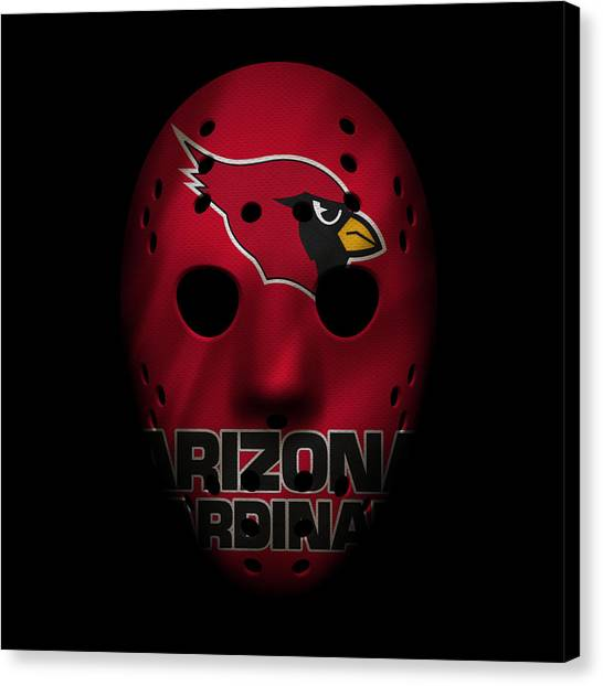 Arizona Cardinals Canvas Print - Arizona Cardinals War Mask by Joe Hamilton