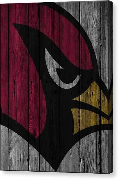 Arizona Cardinals Canvas Print - Arizona Cardinals Wood Fence by Joe Hamilton