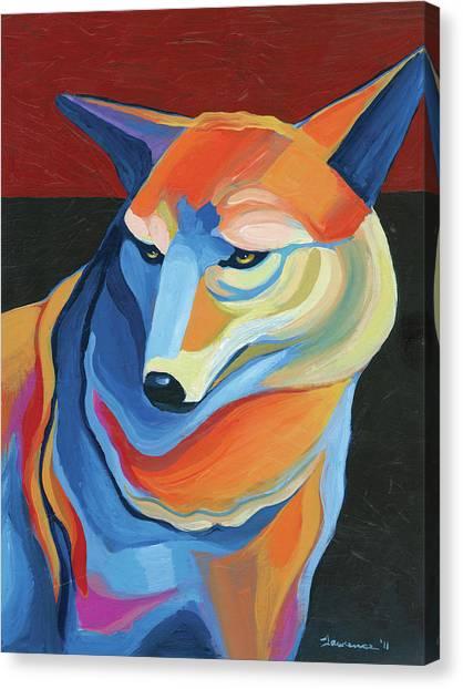 Arizona Coyotes Canvas Print - Arizona Coyote by Mike Lawrence