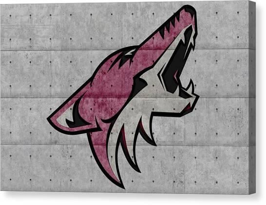 Arizona Coyotes Canvas Print - Arizona Coyotes by Joe Hamilton