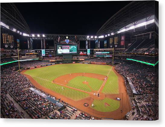 Arizona Diamondbacks Canvas Print - Arizona Diamondbacks Baseball 2591 by David Haskett II