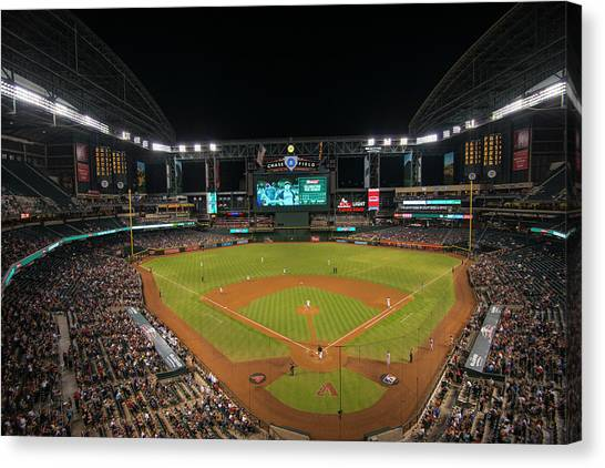 Diamondbacks Canvas Print - Arizona Diamondbacks Baseball 2639 by David Haskett II