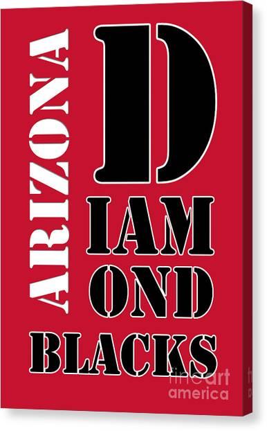 Arizona Diamondbacks Canvas Print - Arizona Diamondbacks Baseball Typography Red by Drawspots Illustrations
