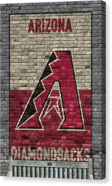 Diamondbacks Canvas Print - Arizona Diamondbacks Brick Wall by Joe Hamilton
