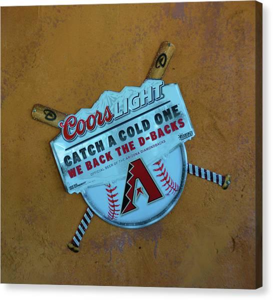 Arizona Diamondbacks Canvas Print - Arizona Diamondbacks Sign by Richard Jenkins
