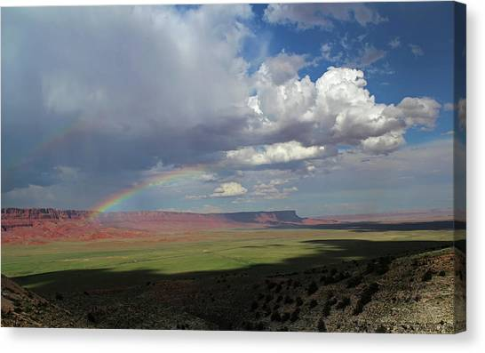 Rainbow Canvas Print -  Arizona Double Rainbow by Jerry LoFaro