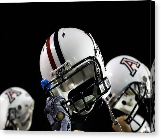 University Of Arizona Ua Canvas Print - Arizona Football Helmets by University of Arizona