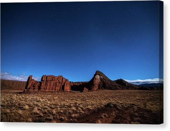 Arizona Landscape At Night Canvas Print