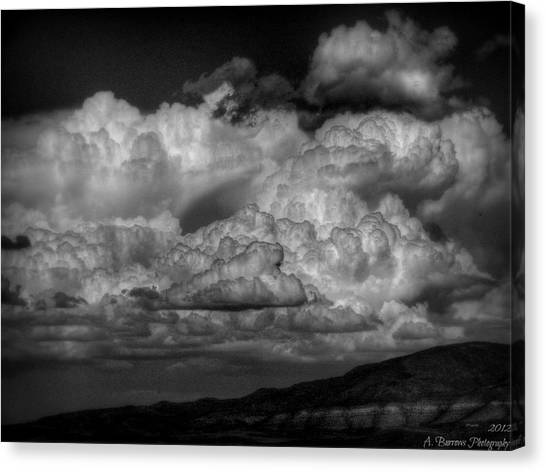 Arizona Monsoon Black And White Canvas Print