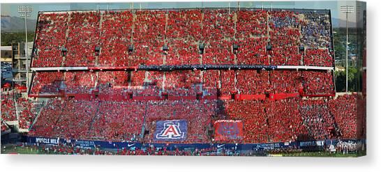 Arizona Stadium Triptych Part 1 Canvas Print by Stephen Farley