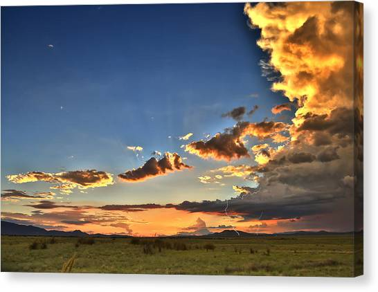 Arizona Sunset Storm Canvas Print