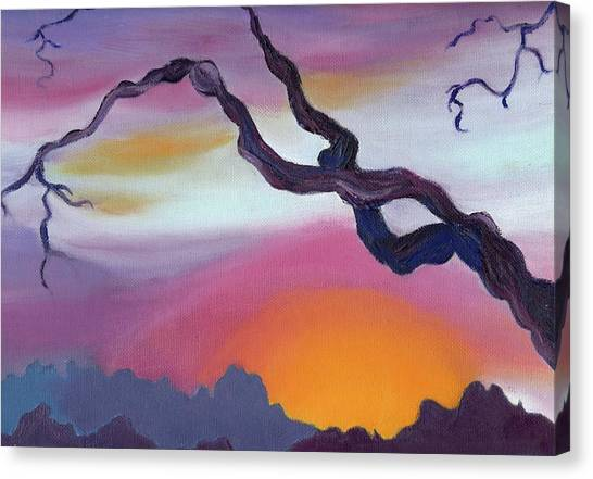 Arizona Sunset Canvas Print by Suzanne  Marie Leclair