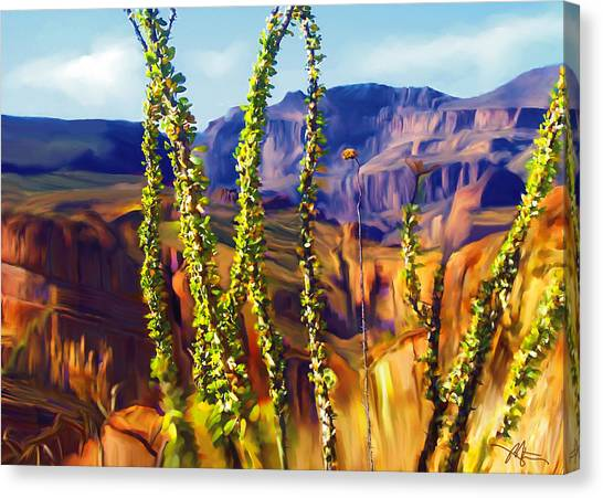 Arizona Superstition Mountains Canvas Print