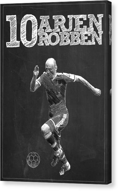 New York Red Bulls Canvas Print - Arjen Robben by Semih Yurdabak