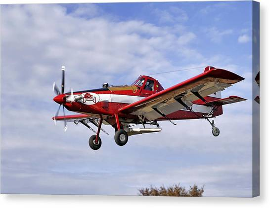 Arkansas Razorbacks Crop Duster Canvas Print