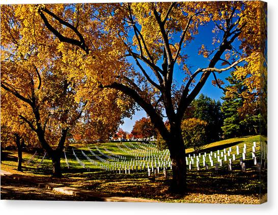 Arlington Cemetery In The Fall Canvas Print