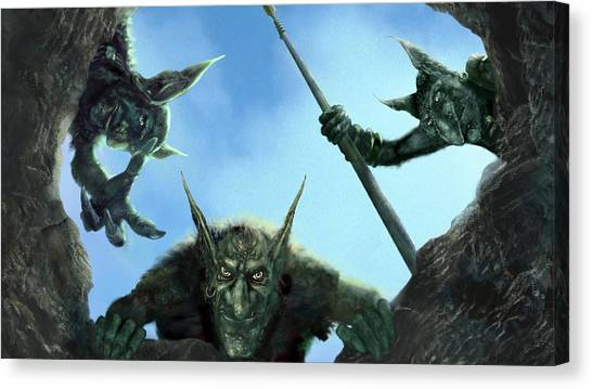 Triceratops Canvas Print - Armies Of Exigo by Super Lovely