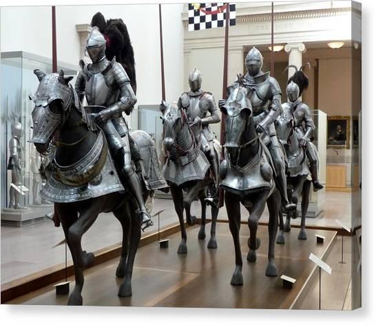War Horse Canvas Print - Armor by Maye Loeser