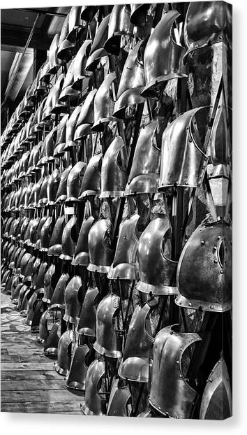 Armor Row Canvas Print