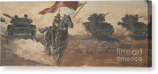 Armored Cavalry Canvas Print by Unknown
