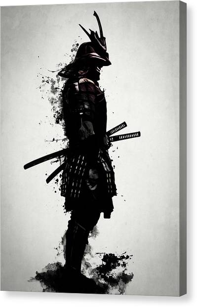 Japanese Canvas Print - Armored Samurai by Nicklas Gustafsson