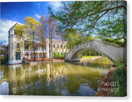 Canvas Print featuring the photograph Armstrong Park, New Orleans, La by Ron Sadlier
