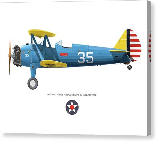 Army Air Corps Pt-17 Canvas Print