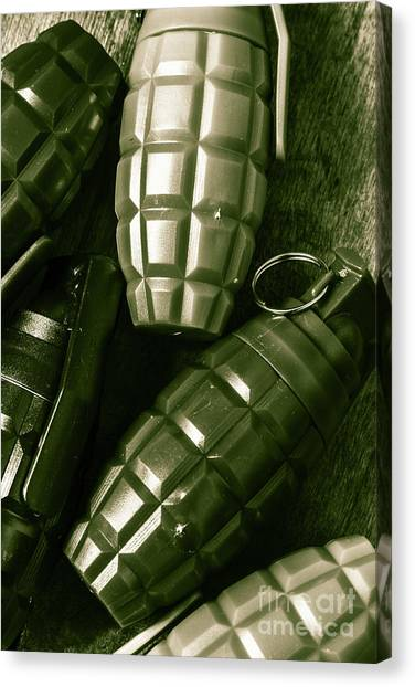 Grenades Canvas Print - Army Green Grenades by Jorgo Photography - Wall Art Gallery