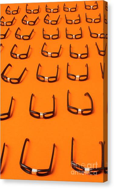 Desks Canvas Print - Army Of Nerd Glasses by Jorgo Photography - Wall Art Gallery