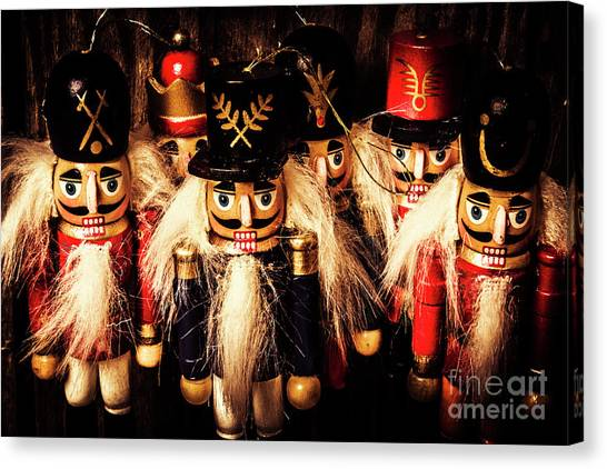 Army Of Wooden Soldiers Canvas Print